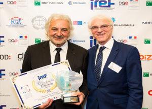 rix Jean-Paul Clément » : Franck Provost, Président du Groupe Provalliance accompagné de Michel Kahn, Président de l'IREF
